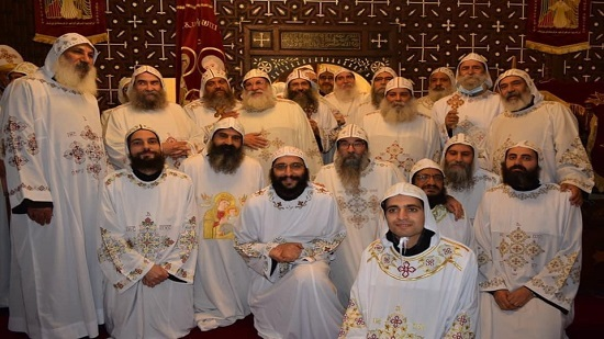 Monks ordained and promoted at al-Muharraq monastery