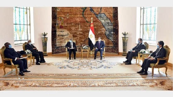 Egypt's Sisi affirms position on GERD during meeting with former Namibian president Nujoma