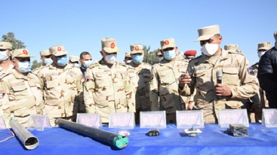 In Photos: Egypt's Armed forces Chief of Staff inspects combat training camp in North Sinai