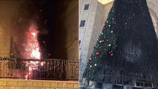 Bishop of Jerusalem denounces burning Christmas tree again