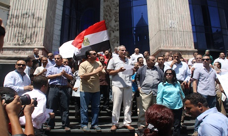 Egyptian journalists protest for press freedom, worried about Islamist appointees