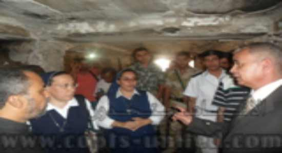 Suez Governor inspects the burnt churches