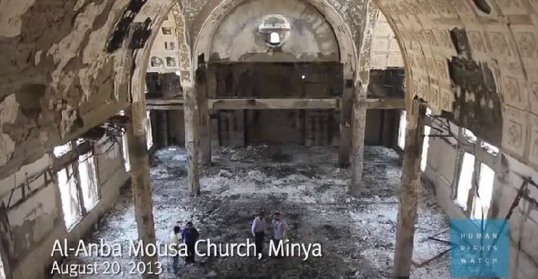 Human Rights Watch Releases A Documentary About the Burned Churches in Egypt