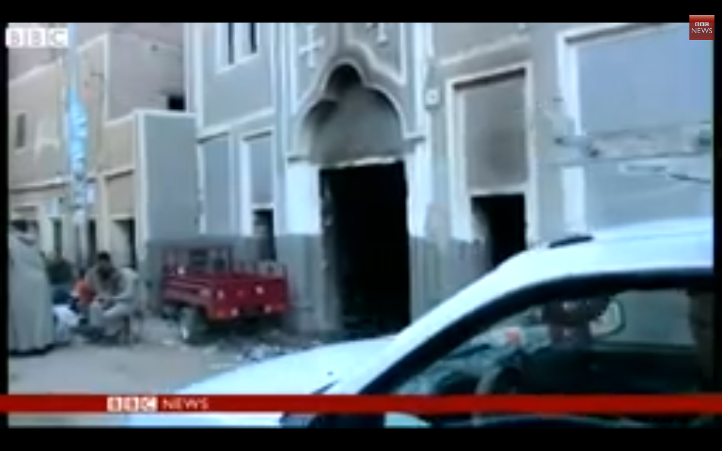 BBC News - Coptic Christian church destroyed by Egypt looters