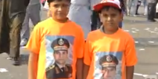 Military supporters call on El-Sisi to run for president during 6 October celebrations