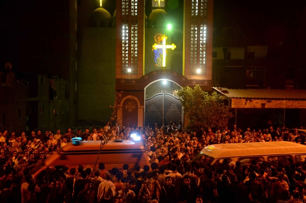 Three killed after gunmen fire on wedding guests outside Egyptian church