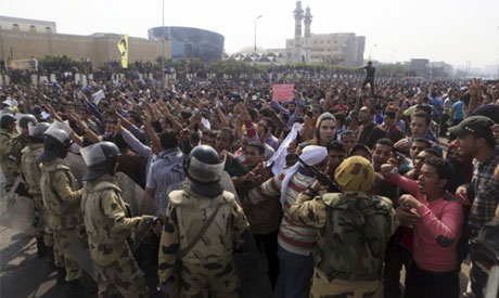 Egypt police fires bird-shots, tear gas at student march