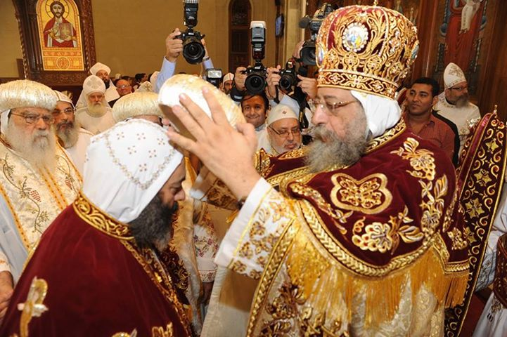 Pope Tawadros encourages new bishops to care for educating the people