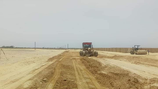 The paving process of the road to the Monastery of St. Samuel starts