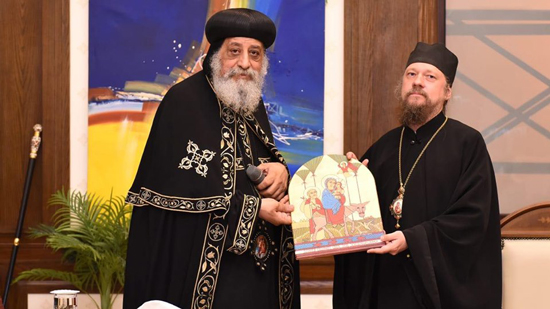 Pope receives the Committee of Relations between the Coptic and Russian Churches