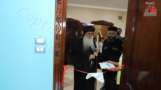 Bishop Isaac opens Habib Medical Center in the village of Hama